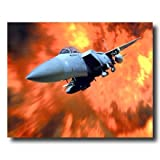 F-15A Eagle Military Fighter Jet Aircraft Airplane Aviation Wall Picture 16x20 Art Print