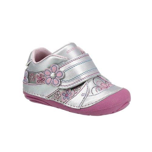 Stride Rite Srt Sm Jean Sneaker (Infant/Toddler),Silver/Pink,3.5 W Us Toddler front-723581