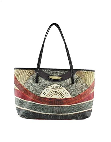 Gattinoni Borsa Donna Shopper Leather Zip Cm 32x24x14 Multicolor
