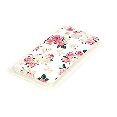 Galaxy J3 Case, MCUK [Anti-Shock] [Scratch Resistant] Slim Flexible Soft Gel TPU Skin Protective Cover Case For Samsung Galaxy J3 / Express Prime / Amp Prime (Rose)