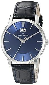 Claude Bernard Men's 63003 3 BUIN Classic Big Date Analog Display Swiss Quartz Black Watch