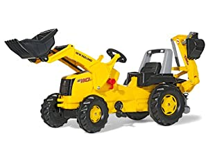 Rolly New Holland Tractor with Front Loader and Backhoe Digger
