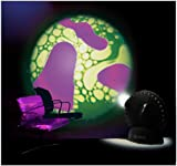Mathmos Space Projector in Black with Violet / Green Oil Wheel