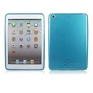 New Clear Plain Soft TPU Gel Back Skin Case Protective Cover for Apple iPad Mini Blue