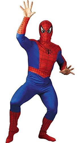 Disguise Men's Marvel Spider-Man Costume, Blue/Red, XX-Large