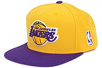 Mitchell & Ness Los Angeles Lakers Gold-Purple Two-Tone Vintage Snapback Adjustable Hat