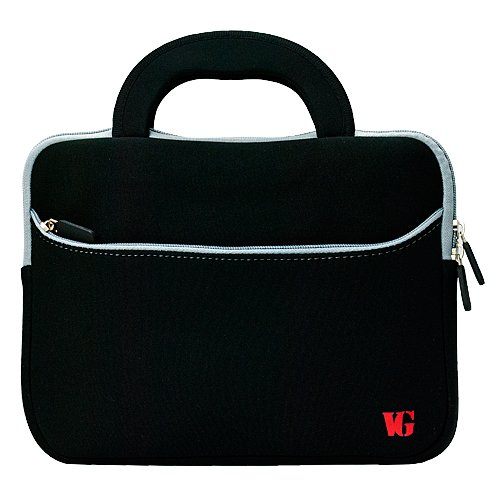 Threatening VG Neoprene Zipper Sleeve Cover w/ Carrying Handles for Kocaso M1070 / M1062 / NB1016 / M1052S / M1050 / M1050S / NB1016 / M1061 10.1 inch Android Tablets