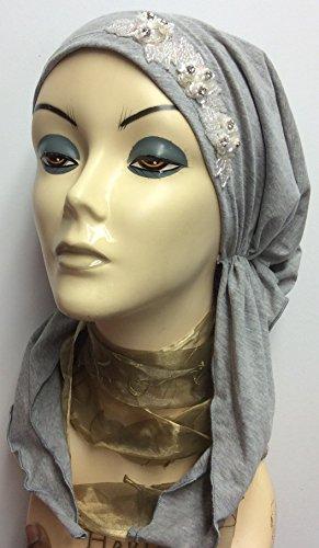 how to make a pre tied head scarf