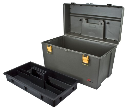 Plano Molding 701 Extra Deep Tool Box, Graphite Gray with Iron Yellow, 22-Inch