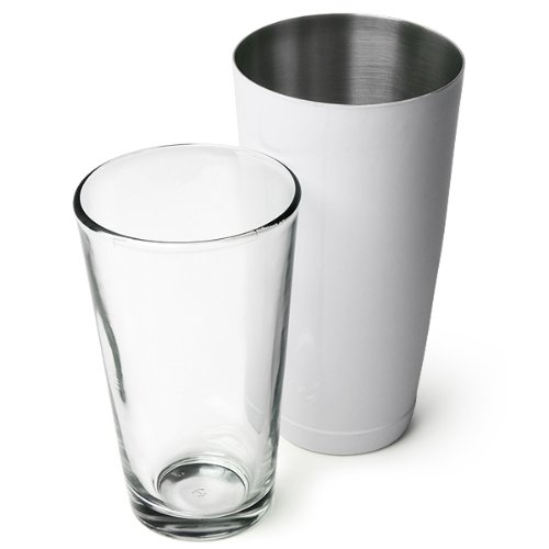 Professional Boston Cocktail Shaker White (Tin