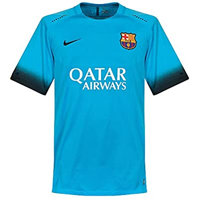 Nike Mens Barcelona Match Jersey [LT CURRENT BLUE]