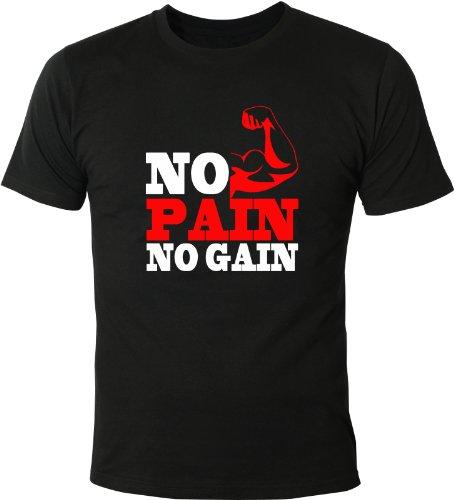Mister Merchandise T-Shirt No PAIN no GAIN! - Uomo Maglietta S-XXL - Molti Colori
