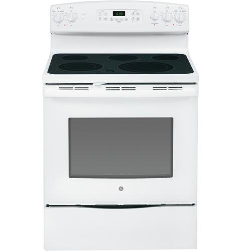 """Ge Jb690Dfww 30"""" White Electric Smoothtop Range - Convection"""