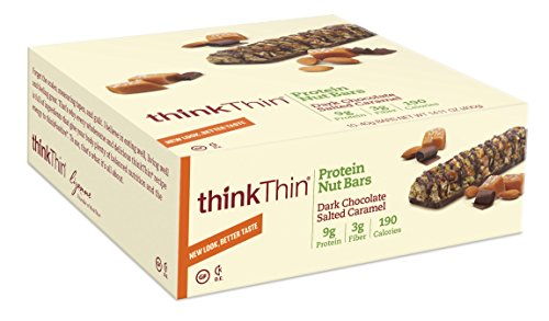 Think Thin Dark Chocolate Salted Caramel 10 pieaces 40 g bars (Think Thin Bars Caramel compare prices)