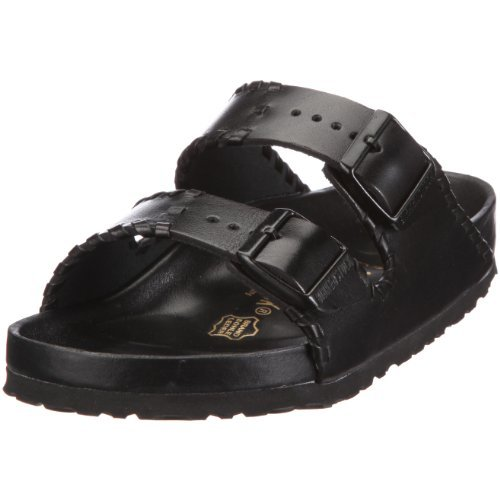 Buy Low Price Birkenstock Arizona Smooth Leather, Style-No. 252171, Unisex Clogs, Black Braid, Normal Width (B009AG9HDG)