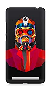 Amez designer printed 3d premium high quality back case cover for Asus Zenfone 6 (Dark man art colorful armor)