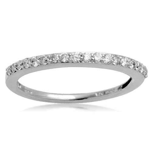 Sterling Silver Prong Set Diamond Wedding Anniversary Ring (1/4 cttw, I-J Color, I2-I3 Clarity), Size 5