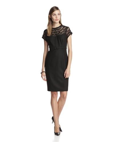 Susana Monaco Women's Lily Laser Cut Sheath Dress