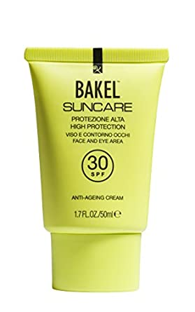 BAKEL Suncare Face and Eye Area Sun Protection, High SPF30 50 ml