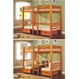 Twin/Twin Convertable Bunk Loft Bed 7413(ABC)