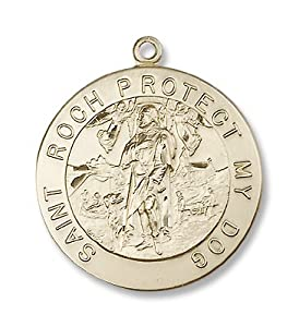 14kt Gold St. Roch Medal