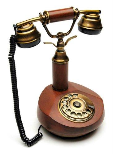Sitel b23300t retro 39 telephone telefono fisso design vintage retro legno noce telefoni - Telefono fisso design ...
