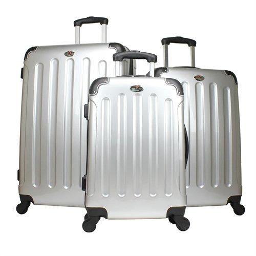 Swiss Case 3-teiliges 4-Rad Kofferset Silber