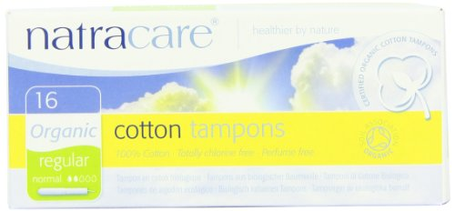 Natracare Organic All Cotton with Applicator Tampons  Regular - 12 x Packs of 16 (192 Tampons)
