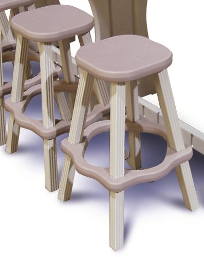 Leisure Accents Barstool Set (2/Carton), Taupe/Beige, 26 Inches Tall