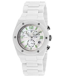 Swiss Legend Women's 10055-WWSA Throttle Analog Display Swiss Quartz White Watch