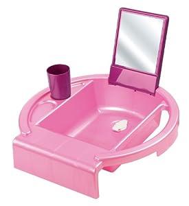 Rotho 20034 0153 01 - Palangana infantil con espejo y vaso, color fucsia
