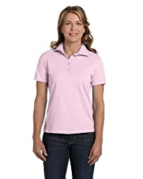 Hanes Women\'s 7 oz Hanes STEDMAN Cotton Pique Polo, S-Pale Pink