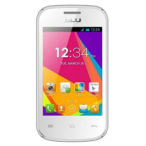 BLU Dash JR W D141w Unlocked GSM Dual-SIM Android Cell Phone - White (Blu 900 1800 1900 compare prices)