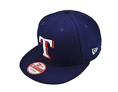 New Era 9fifty Men's Snapback Texas Rangers Hat Cap Royal Blue Major
