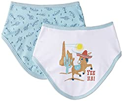 Pumpkin Patch Baby Boys' 2 Pack Bandana Bibs,Light Nile Blue,One Size