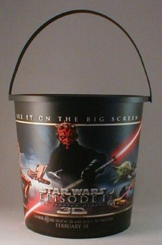 Star Wars Episode 1 3D Theater Exclusive Promotional 130 Oz Popcorn Tub