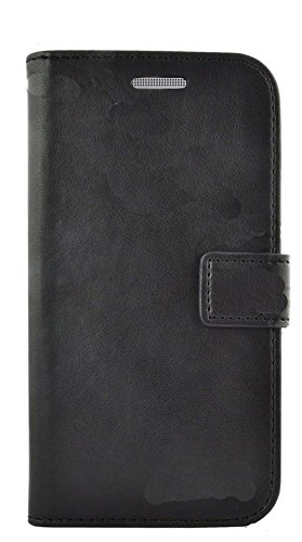 Mylife Shadow Black {Exquisite Design} Faux Leather (Card, Cash And Id Holder + Magnetic Closing) Slim Wallet For The All-New Htc One M8 Android Smartphone - Aka, 2Nd Gen Htc One (External Textured Synthetic Leather With Magnetic Clip + Internal Secure Sn