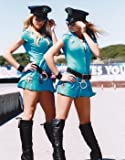 Glamour Model In Sexy Leather Latex Police Costume Outfit Blonde Hair 10x8 Photograph Picture