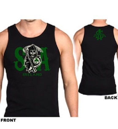 Sons Of Anarchy Ireland Tank Top (Large, Black)