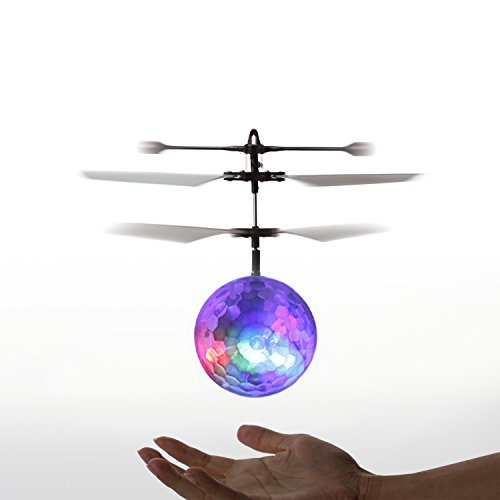 YKS RC Toy, RC Flying Ball, RC infrared Induction Helicopter Ball Built-in Shinning LED Lighting for Kids, Teenagers Colorful Flyings for Kid's Toy (Air Suspension Ball Toy compare prices)