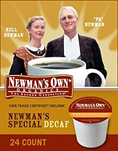 Newman's Own Organics, Newman's Own Special Blend Decaf, K-Cup Portion Pack for Keurig K-Cup Brewers