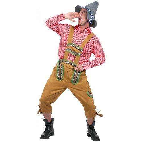 Kniebundhosen Men's Costume Adult Halloween Outfit - Size L, Waist