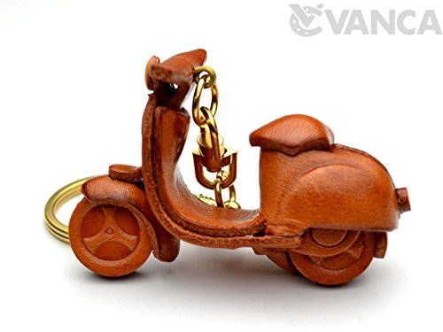 Motor Scooter Leather Vehicles KH Keychain VANCA CRAFT-Collectible keyring Made in Japan