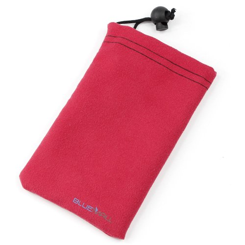 Bluemall Microfiber Sleeve Pouch Cover Case - Raspberry For Motorola Moto G, Moto X And More Cellphone Smartphone