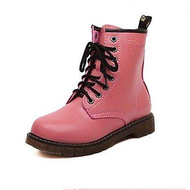 Stämmiger Absatz – Lackleder – FRAUEN – Stiefel-wadenlang – Combat Boots/Runde Zehe – Stiefel ( Schwarz/Rosa/Rot/Weiß ) online kaufen