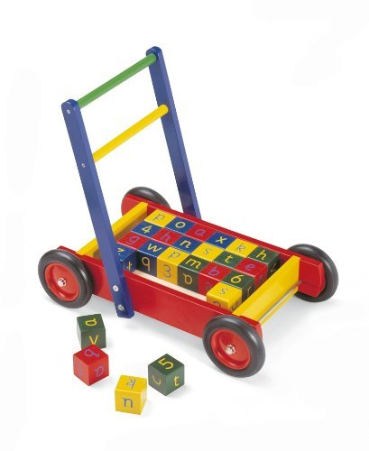 PINTOY Walker And Alphabet Blocks (Building Block Baby Walker compare prices)