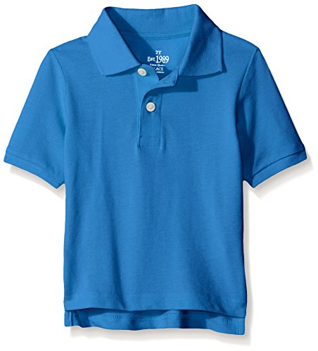 The Children's Place Baby-Boys Short Sleeve Polo, Fountain Blue, 3T