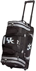 University of Kentucky Rolling Duffel Bag Official College Logo UK Wildcats Logo Duffle Travel / Gym / Sports Overnight Luggage Bags