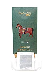 TopQualiTea Jasmine Green Tea (10 individually wrapped leaf teabags)