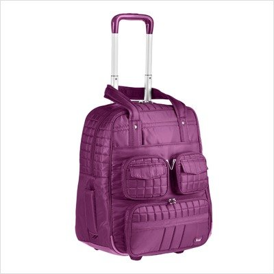Lug Puddle Jumper Overnight/Gym Bag with Wheels, Plum Purple